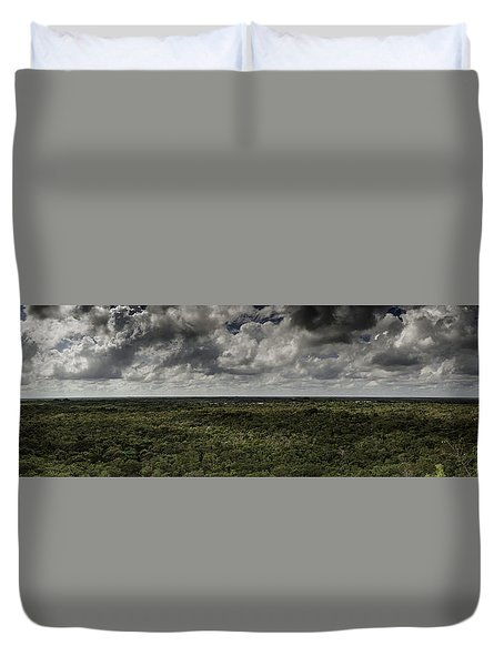 Duvet Cover featuring the photograph Mexican Jungle Panoramic by Jason Moynihan