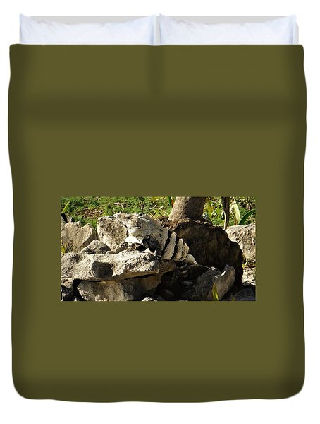 Mexican Lizard Duvet Cover