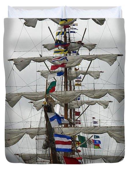 Mexican Navy Ship Duvet Cover