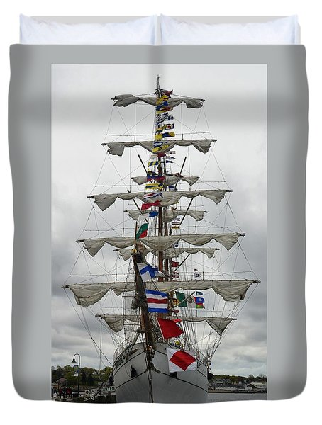 Mexican Navy Ship Duvet Cover