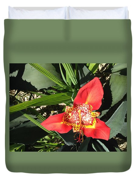 Mexican Orchid Duvet Cover