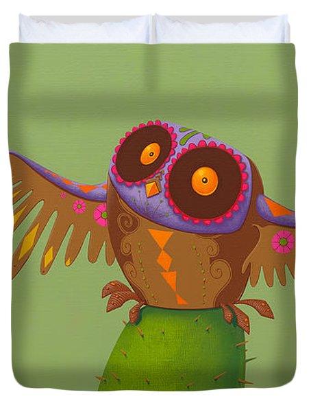 Mexican Owl Duvet Cover