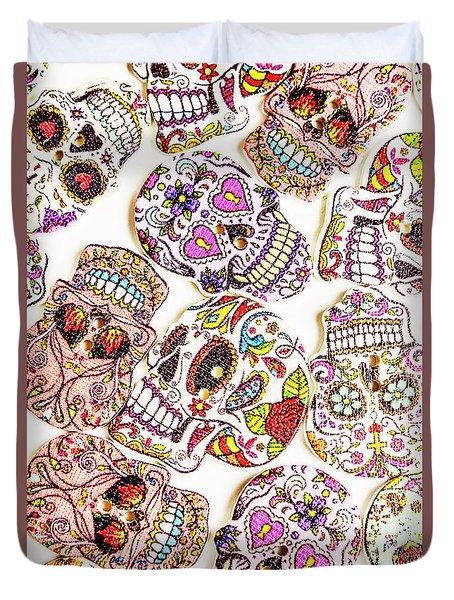 Mexican Sugar Skulls Duvet Cover