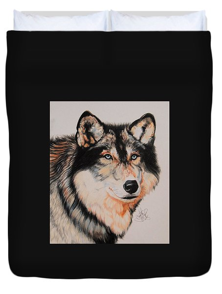 Mexican Wolf Hybrid Duvet Cover by Cheryl Poland