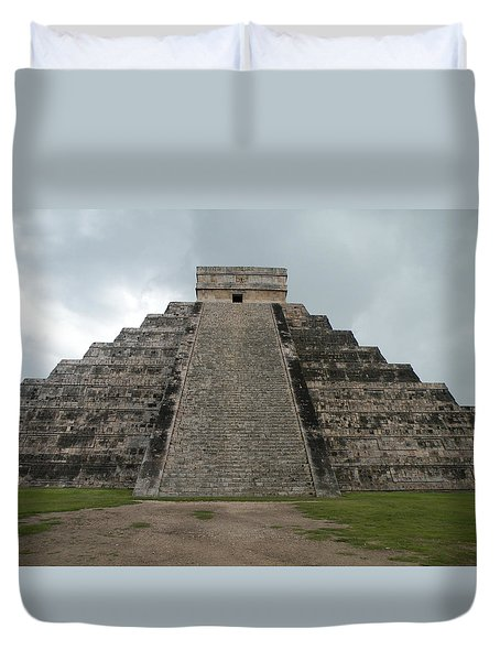 Mexico Chichen Itza Duvet Cover by Dianne Levy