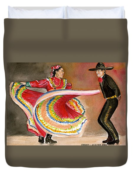 Mexico City Ballet Folklorico Duvet Cover by Frank Hunter