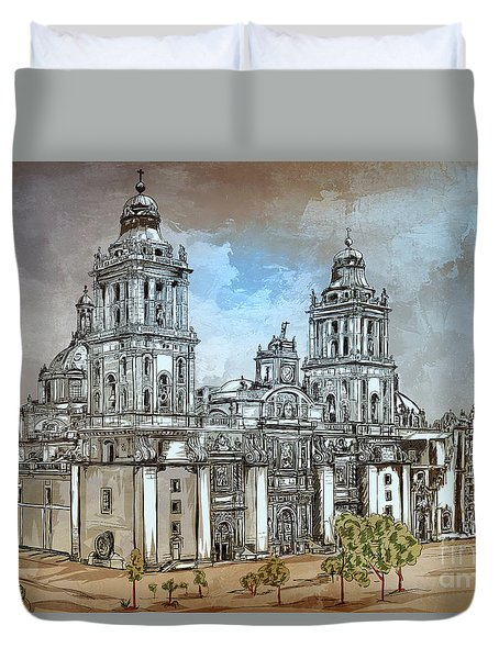 Mexico City Metropolitan Cathedral. Duvet Cover
