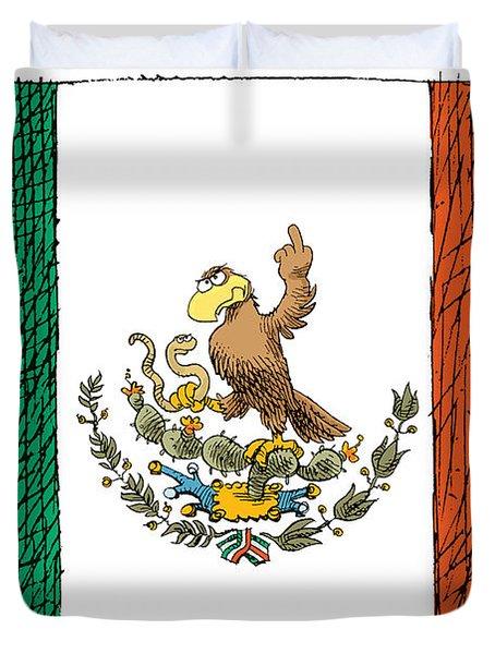 Mexico Flips Bird Duvet Cover
