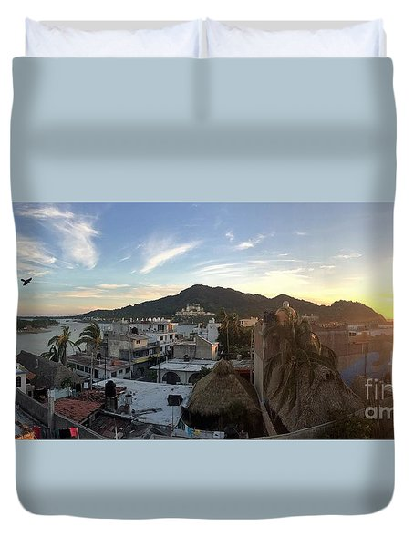 Duvet Cover featuring the photograph Mexico Memories 3 by Victor K