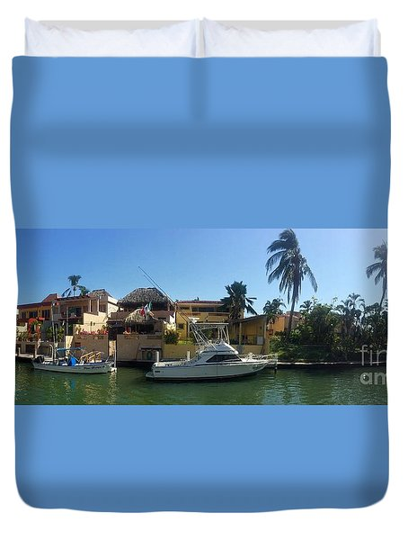 Duvet Cover featuring the photograph Mexico Memories 5 by Victor K