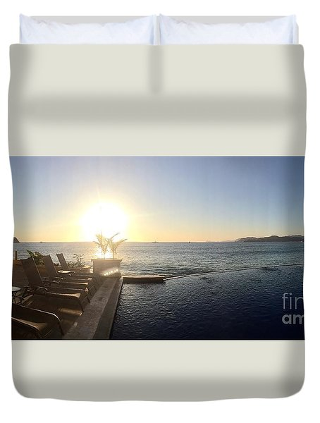 Duvet Cover featuring the photograph Mexico Memories 6 by Victor K