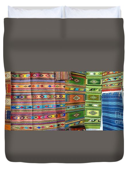 Duvet Cover featuring the photograph Mexico Memories 8 by Victor K
