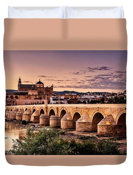 Mezquita In The Evening Duvet Cover by Marion McCristall