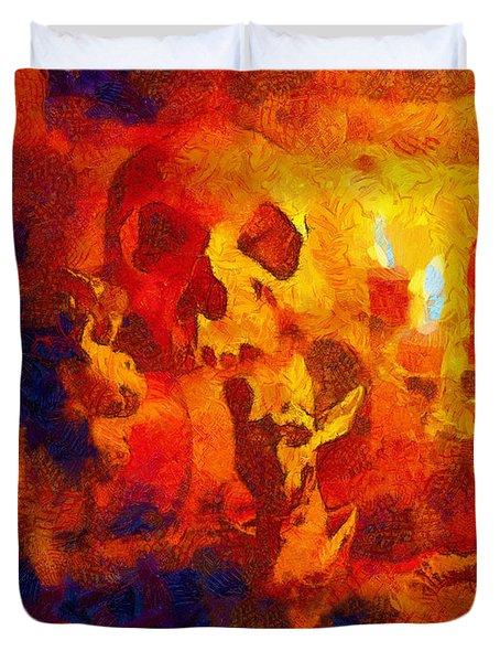 Mezzanotte Natura Morta, Con Demoni Duvet Cover