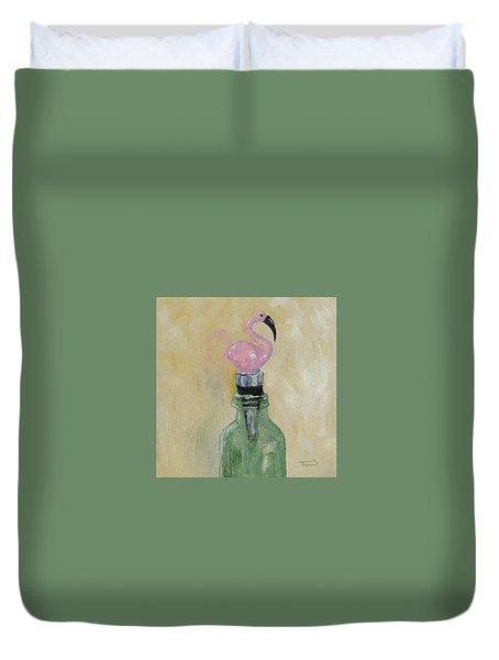 Mi Flamingo Duvet Cover by Torrie Smiley