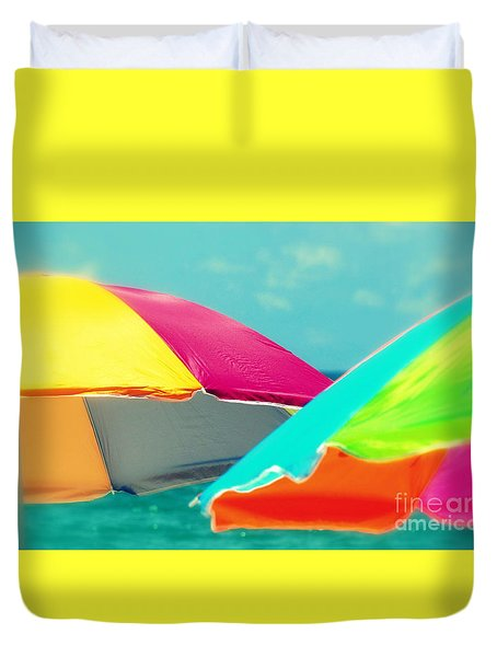 Duvet Cover featuring the photograph Miami Beach 1 by France Laliberte