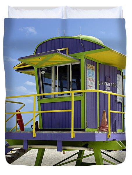 Miami Beach Duvet Cover by Bob Christopher