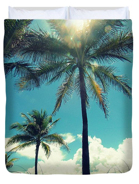 Duvet Cover featuring the photograph Miami Beach by France Laliberte