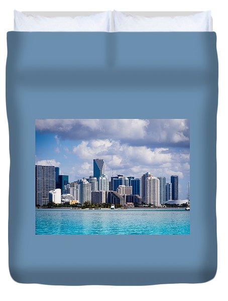 Miami Blues Duvet Cover