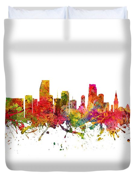 Miami Cityscape 08 Duvet Cover by Aged Pixel