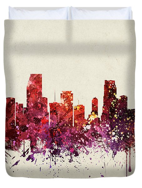 Miami Cityscape 09 Duvet Cover by Aged Pixel