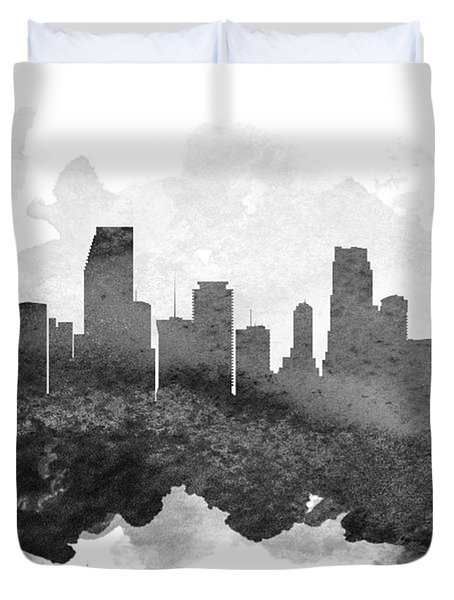 Miami Cityscape 11 Duvet Cover by Aged Pixel