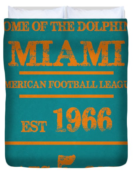 Miami Dolphins Sign Duvet Cover