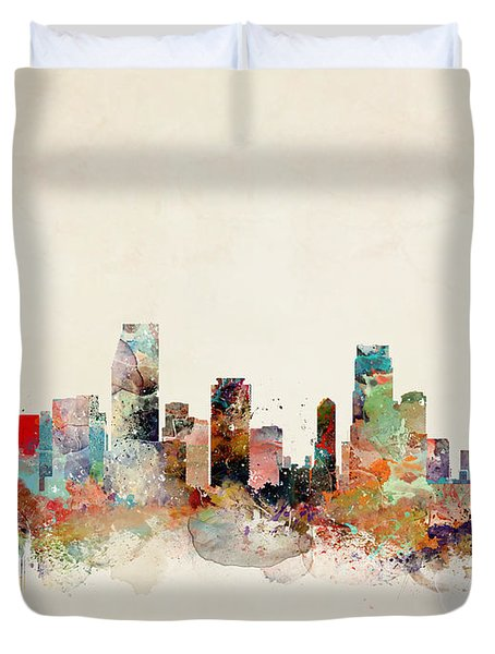 Miami Florida Duvet Cover