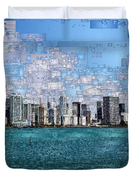 Miami, Florida Duvet Cover
