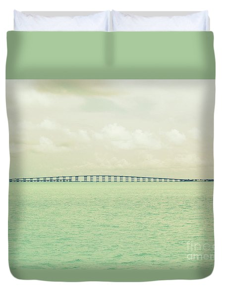 Duvet Cover featuring the photograph Miami  by France Laliberte