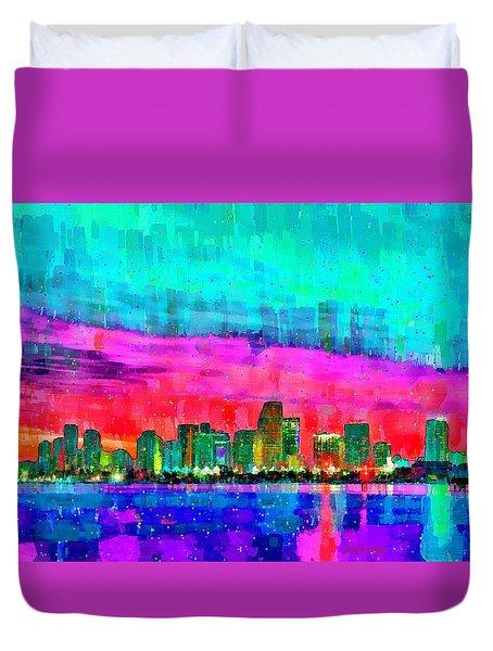Miami Skyline 145 - Pa Duvet Cover