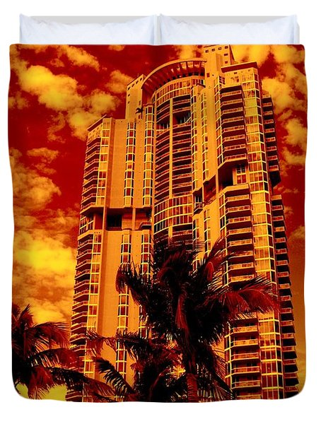 Miami South Pointe IIi Highrise Duvet Cover