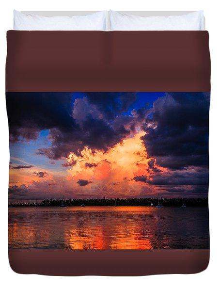 Miami Storm Duvet Cover by Jonathan Gewirtz