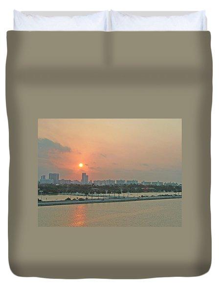 Miami Sunrise Duvet Cover