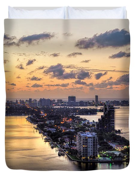 Miami Sunrise Duvet Cover