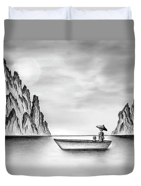 Micah Monk 01 - In The Moment Duvet Cover
