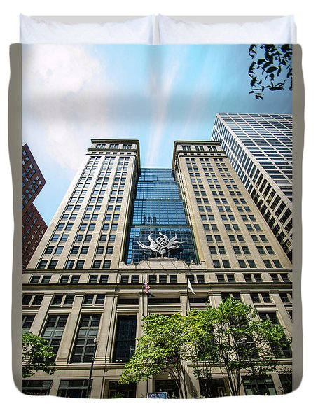 Duvet Cover featuring the photograph Michael A Bilandic Building Chicago by Deborah Smolinske