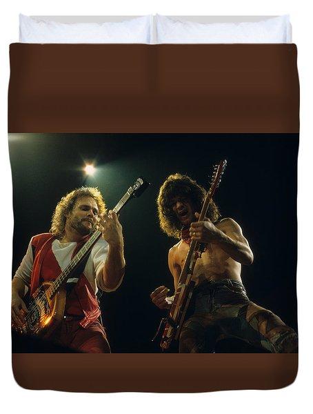 Michael And Eddie Duvet Cover