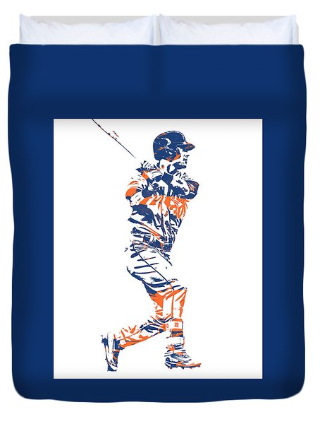 Michael Conforto New York Mets Pixel Art 2 Duvet Cover