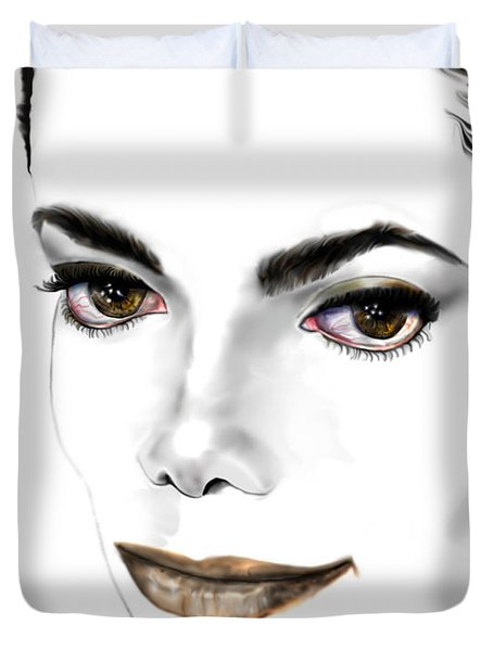 Michael J Duvet Cover by Reggie Duffie