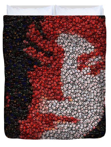 Duvet Cover featuring the mixed media Michael Jackson Bottle Cap Mosaic by Paul Van Scott