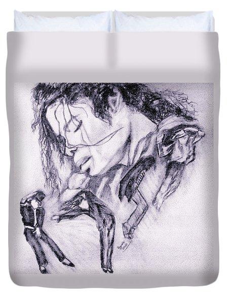 Michael Jackson Dance Duvet Cover by Regina Brandt