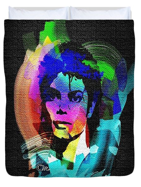 Michael Jackson Duvet Cover by Mo T