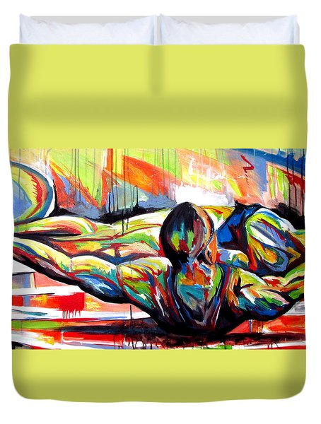 Michael Johnson Stretch Duvet Cover