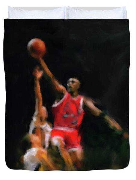 Michael Jordan 548 1 Duvet Cover by Mawra Tahreem