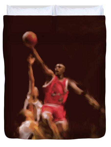Michael Jordan 548 2 Duvet Cover by Mawra Tahreem