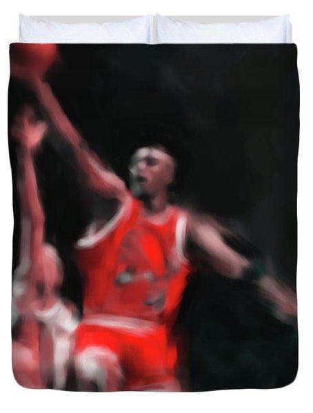 Michael Jordan 548 3 Duvet Cover by Mawra Tahreem
