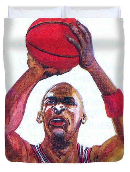 Michael Jordan Duvet Cover by Emmanuel Baliyanga
