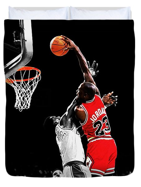 Michael Jordan Power Slam Duvet Cover