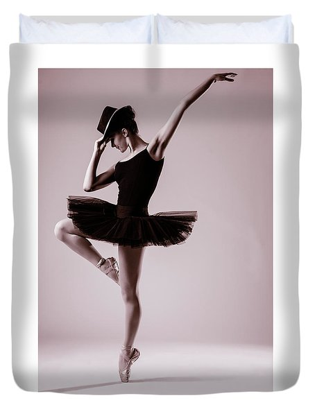 Michael On Pointe 2 Duvet Cover